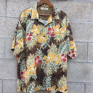 Tommy Bahama men's silk XL floral shirt